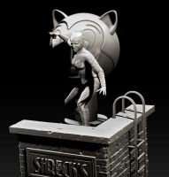 Catwoman Bust by Sean-Dabbs-fx