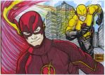 Flash and Anti Flash skech card puzzle by mdavidct