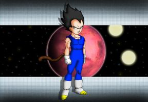 Kid vegeta Planet vegeta by liayne