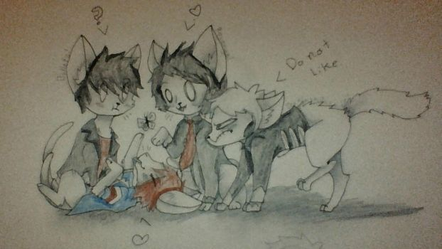 Gerard cats! by AwwePickles