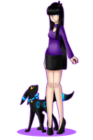 Adult Alice +Umbreon Luna by Rumay-Chian