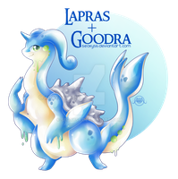 Goodra x Lapras by Seoxys6