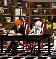 Rabi and Allen in a library by Illumina-SW