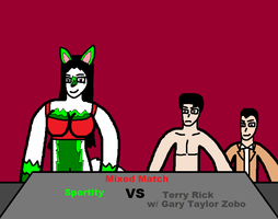 Sportity vs Terry Rick poster by blackevil915