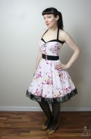floral Yvonne retro rockabilly swing dress by smarmy-clothes