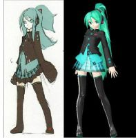 DT Miku early version by Syazwan133