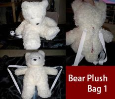 White Bear Plushie Purse by Teslithia