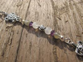 Silver and Shell Turtle Hair Dangle Closeup 5 by Windthin