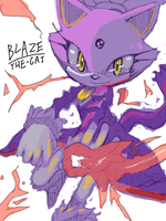 Blaze The Cat by KoiuBlaze