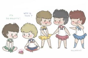 1D as sailor scouts by milamint