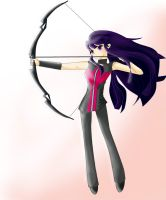 hawkeye girl/anime version by yuriko18eunice