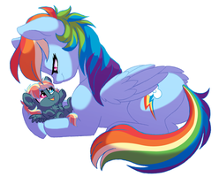 Rainbow and Stormy by Lopoddity