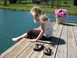 Haley at The Lake 5 by MissyStock