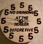 Woodburning - No Drinking @ The Trailer B4 5 Clock by Stepher17