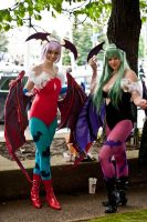Lilith and Morrigan by MlleFe