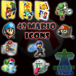 Mario dock 42 icons by vyndo