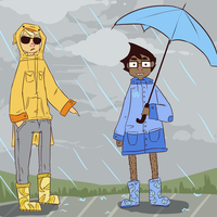 Rainboots by TeezGeez