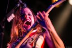 Lzzy Hale of Halestorm rocking vocals and guitar by UltraSonicUSA