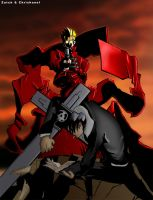Vash and Wolf by ChrisHanel