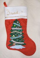 Christmas stocking for Brooke by Vivienne-Mercier