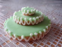 Green Mini Cake Cookie by csquad