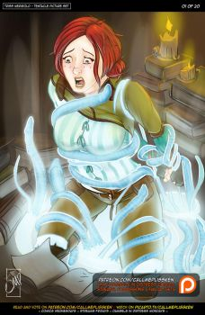 Triss Merigold - Tentacle Troubles by CallMePlisskin