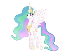 Pony vectors- Princess Celestia by VoleurChatNoire