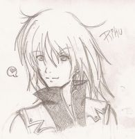 _Riku Sketch_ by sasukerocks25