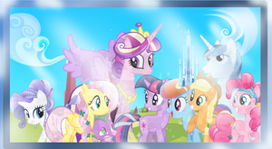 CRYSTAL PONIES  AND SPIKE GROUP PHOTO by djjafeth