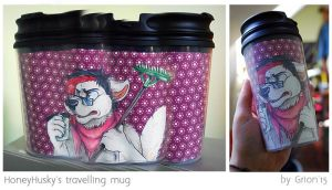 HoneyHusky travelling mug by Grion