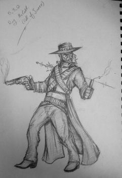 Call of Juarez-Ray McCall sketch 15.3.12 by itamar050