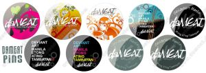 daMEAT Pins by daMEAT