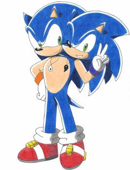 [REQUEST] Two Headed Sonic by RedFire199-S