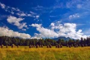 Zakopane Haystacks and Giewont by Sebasket