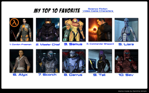My Top 10 Favorite Sci-Fi Video Game Characters by benoski