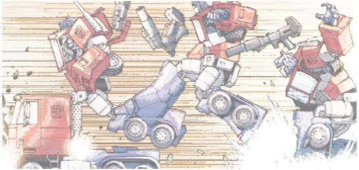 Ascii G1 Optimus Transforming Action Colourized 2 by magigrapix