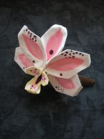 Orchid Hair Clip by squeejie