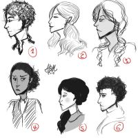 Characters sketchdump by Arileli