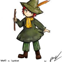 Sasori as Snufkin - Colored by Pany-chaan