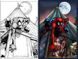 Spiderman Side-by-Side by SarahPerryman