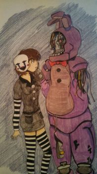 Puppet Encounters Old Bonnie by CaptainYuzuki18