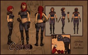 Character Sheet: Cora by JordanKerbow