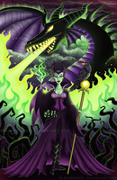 Mistress of All Evil by NikkiWardArt