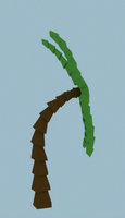 Low Poly Bent Palm Tree by Zectric