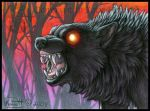 Night Wolf ACEO by Shadow-Wolf
