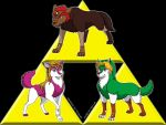 Wolf Triforce by Goldy--Gry