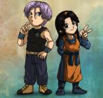 chibi commish trunks and hana by Nishi06
