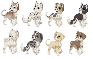 1 Point dog adopables Special Offer 2 for 1 by poppygirl36