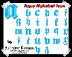 Aqua Alphabet by ashraf882