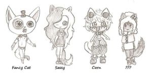 Chibi Cats by WoWConquersall